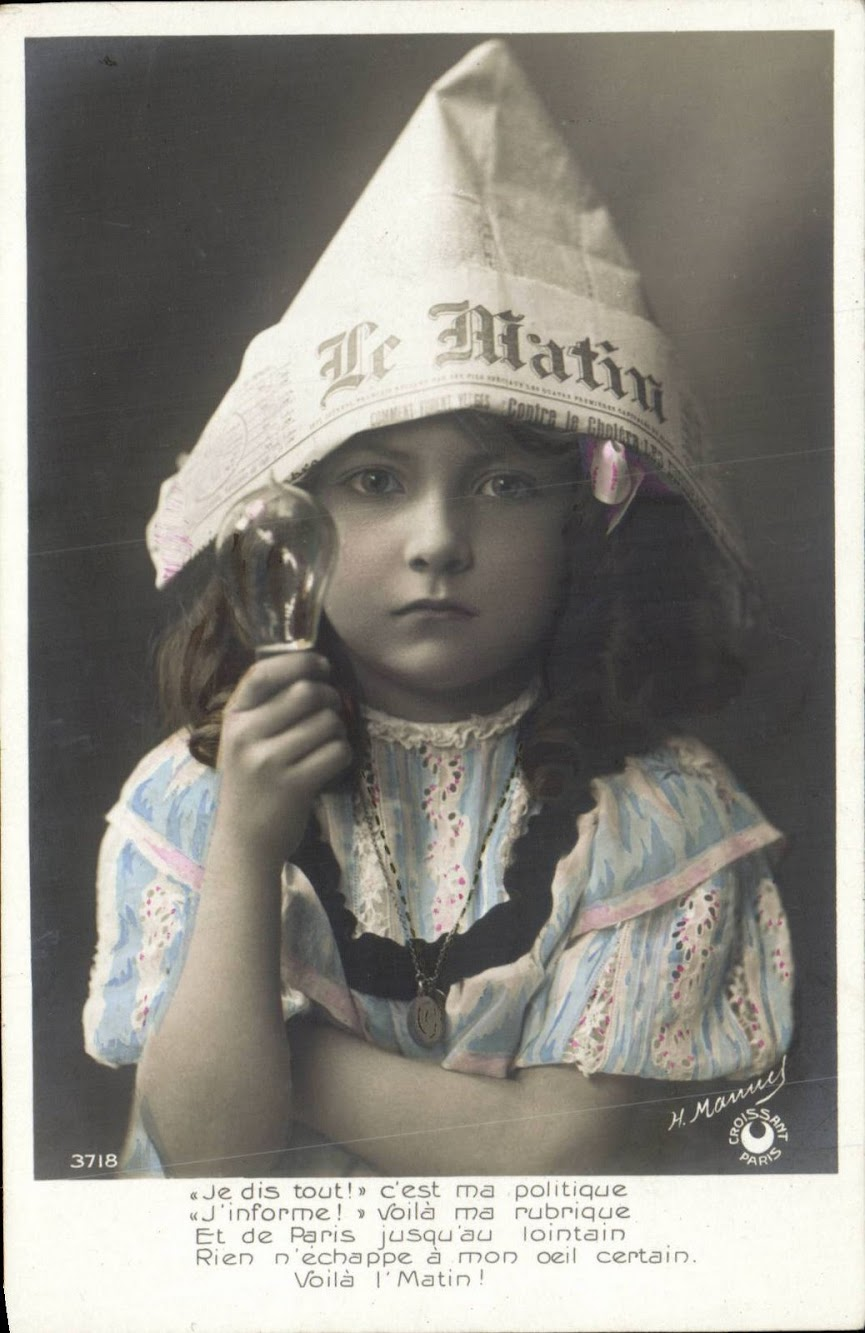 The French Newspaper 'Le Matin' Vintage Postcards