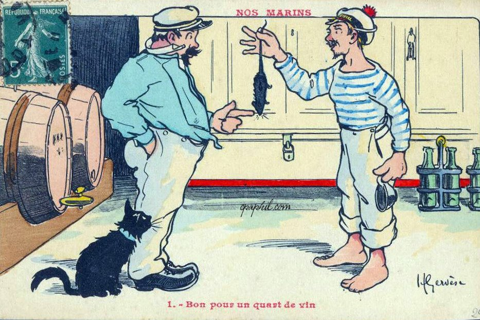 Henri Gervèse Vintage Postcards - Our Sailors