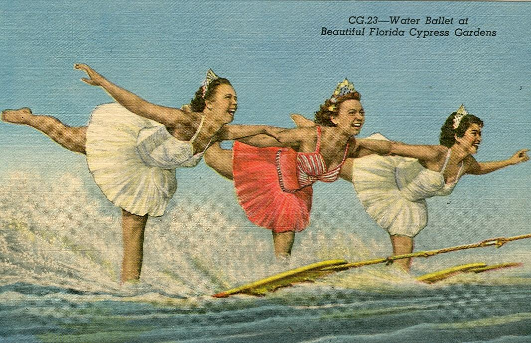 Waterskiing in a Tutu