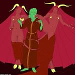 Два Суккуба и демонопоклонник