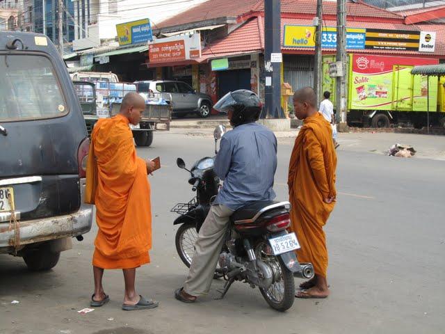 driving motorbike Cambodia