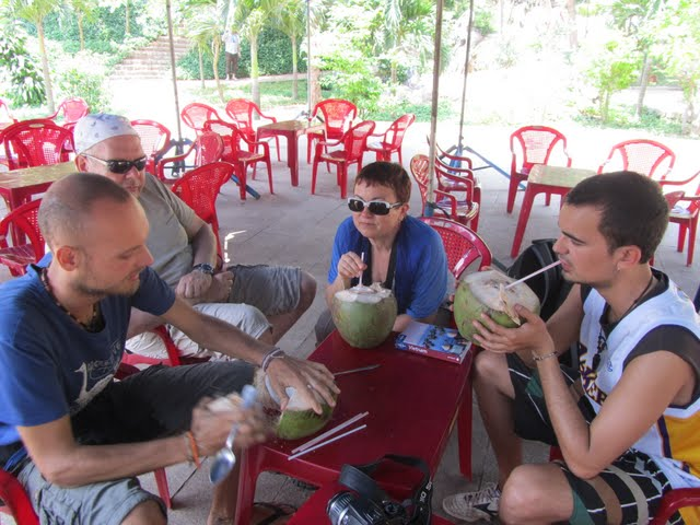 coconut lunch at Marble Mountains