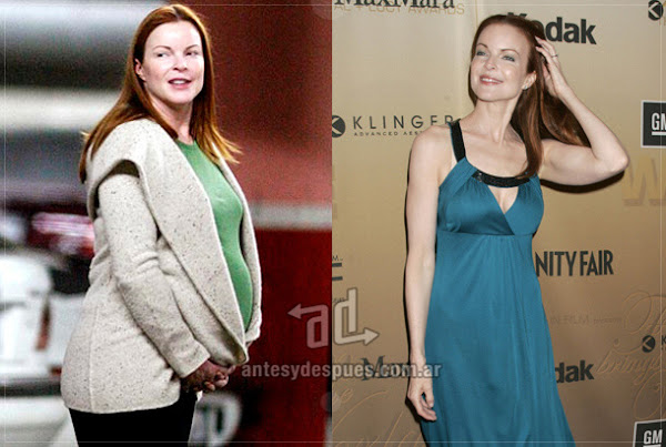Antes y despues de Marcia-Cross embarazada