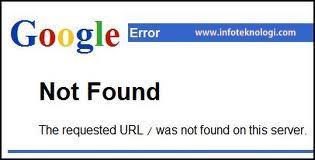 Halaman Error 404 Lama