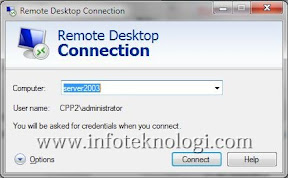 Remote Desktop di Windows 7