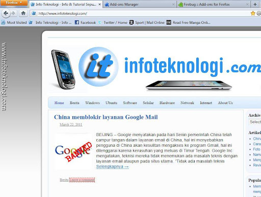 Halaman Awal Mozilla