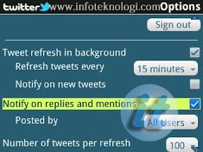 Mengaktifkan Notify on Replies di Twitter