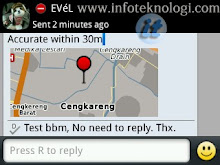 Blackberry Messenger 6 Location