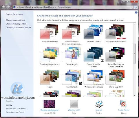Cara membuat tema sendiri di Windows 7