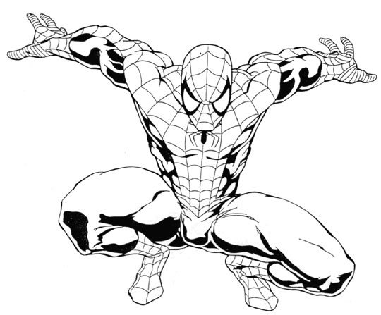 Dessin a colorier spiderman gratuit - Tfou coloriage ...