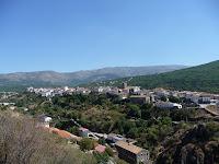 Desde la carretera de Navalmoral se puede ver en toda su extensión la ciudad de Béjar
