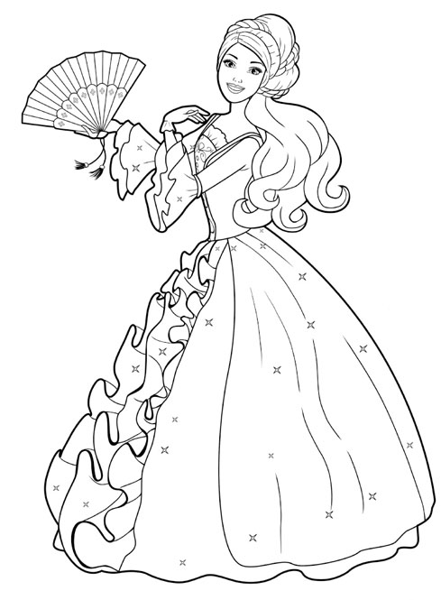 Barbie Coloring Pages for Kids Free Barbie Printable  - barbie printables coloring pages