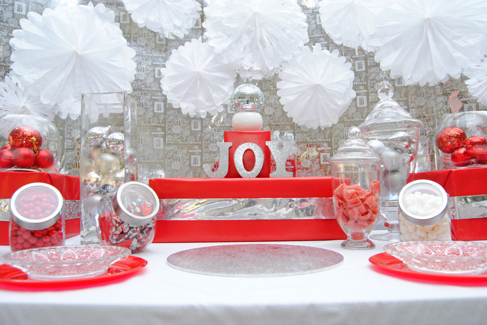 Classic Red and White Candy Table