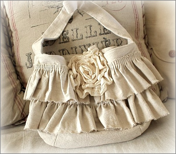 Drop Cloth Ruffle Bag