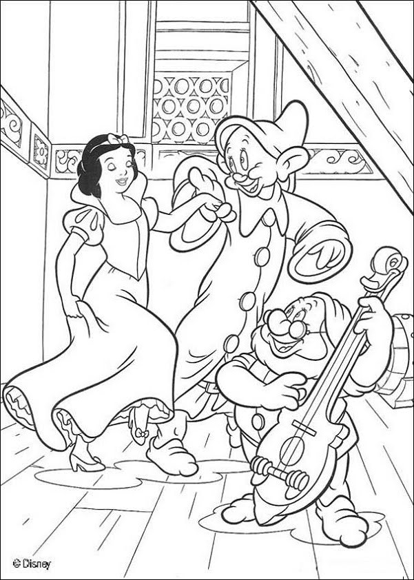snow white coloring pages - [PDF]Snow White and the Seven Dwarfs Coloring Book Unique