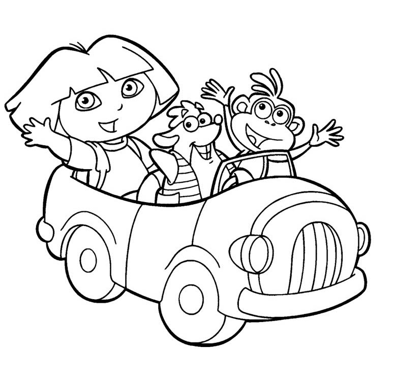 DORA the explorer COLORING PAGES online free  - dora coloring pages online free