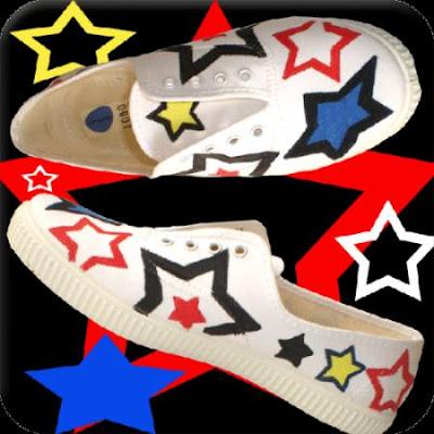 como decorar unas zapatillas con pintura