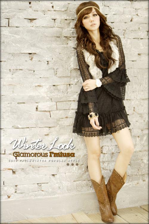 HH-227136 платье-черного цвета - Женская одежда дешево из Китая оптом и...