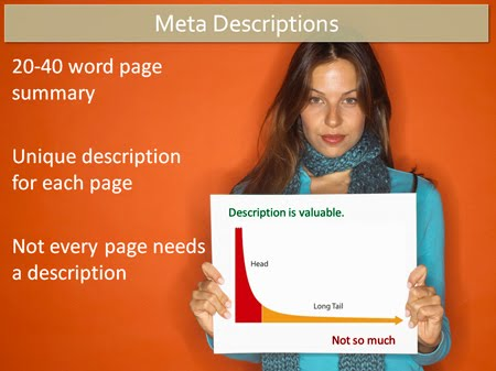 different meta description and meta keywords in Blogger posts