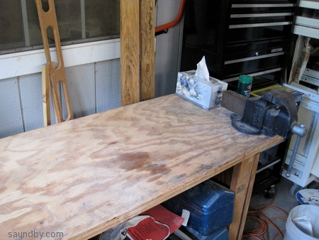 cleared workbench top
