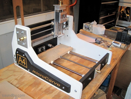 MicroCarve A4 CNC router, base assembly