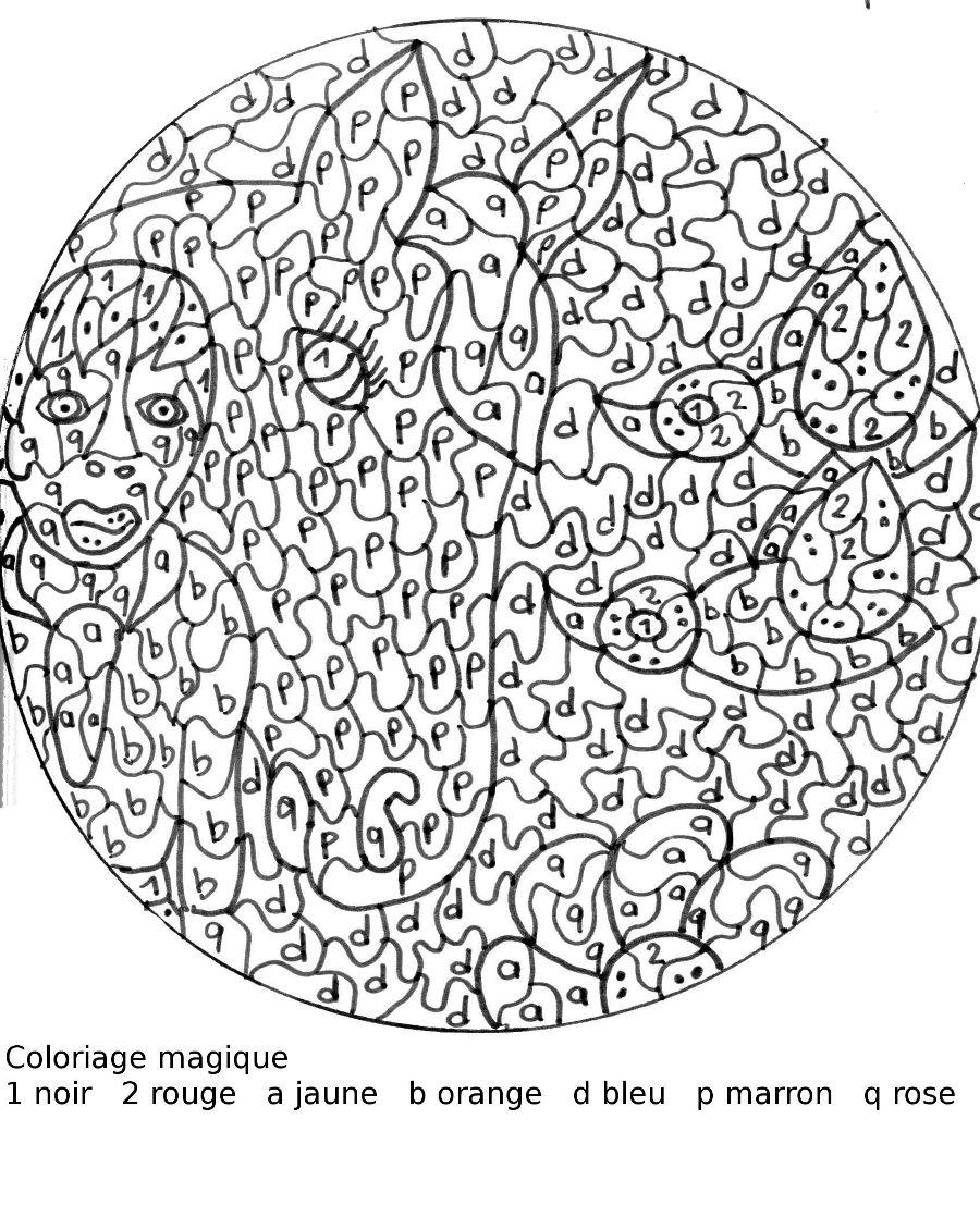 Coloriage De Chien Difficile.Dessin A Colorier De Chien