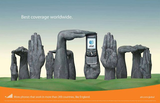 clever and creative att advertisement