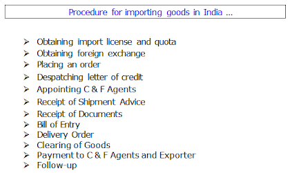 How to import goods