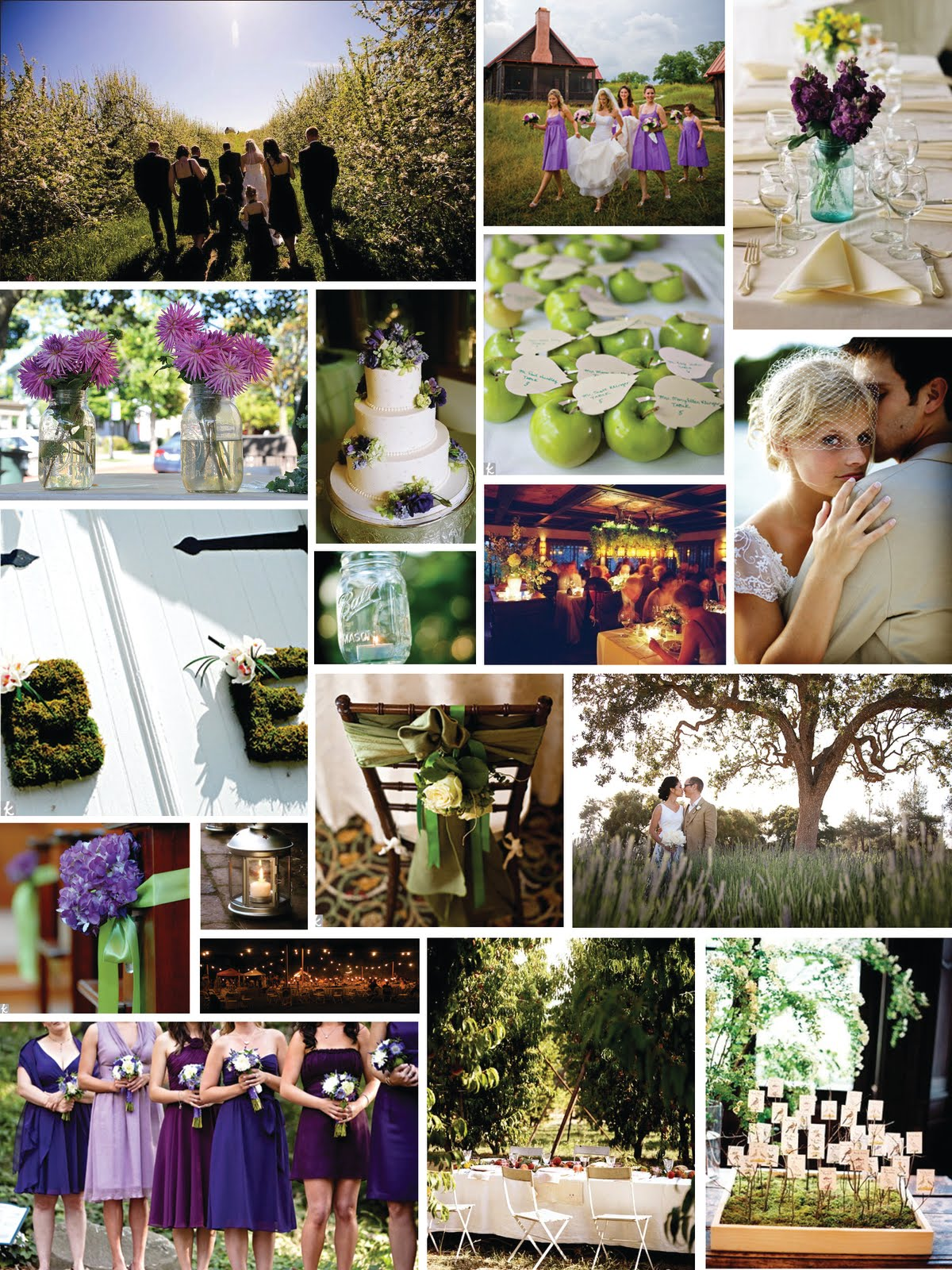 a Rustic Orchard Wedding