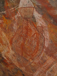 Peinture aborigène rayons X - Ubirr rocks