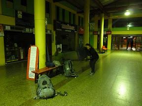 Matin à la gare de bus...