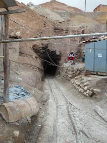 L'entrée de la mine