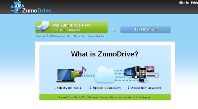 zumodrive free online cloud storage