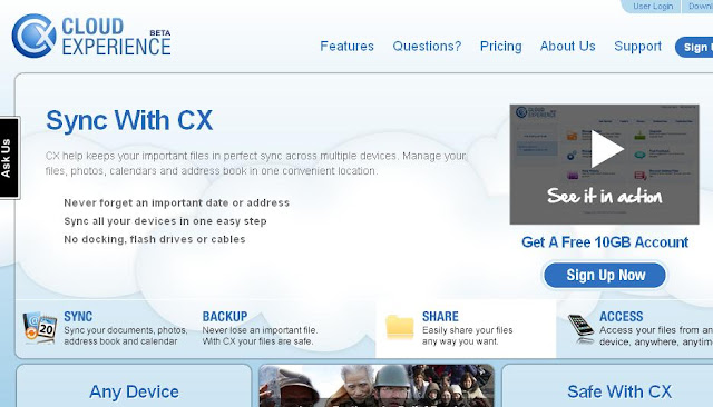 cx.com free online cloud storage