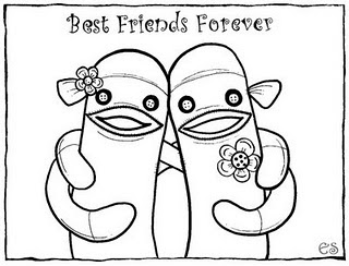 friendship coloring pages - Preschool Friendship Coloring Pages