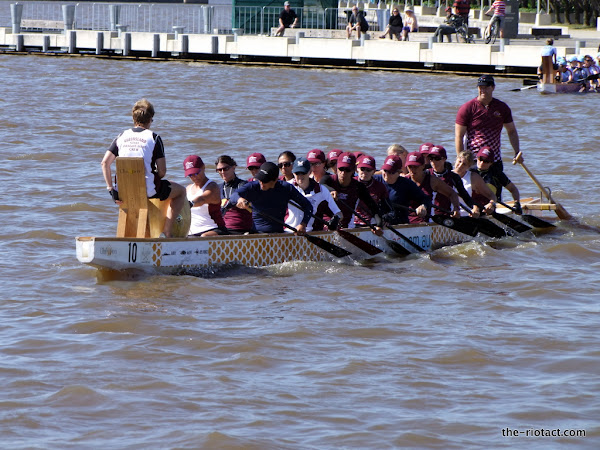 Dragon boat on Lake Burley Griffin