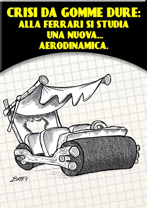 комикс Baffi про Ferrari на Гран-при Испании 2011