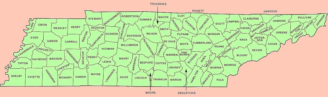 Maps Map Tennessee
