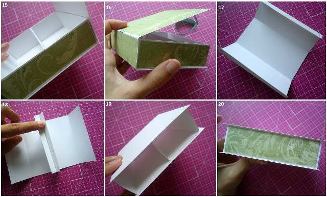 Поделка из бумаги шкатулка