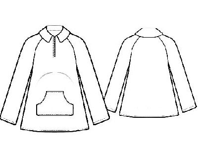 Выкройка флисовой куртки женской