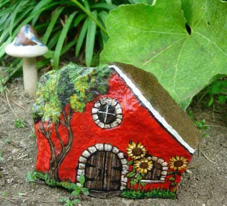 Поделка из камня в садик