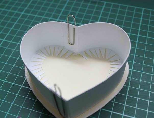 Шкатулка в виде сердца из бумаги своими руками