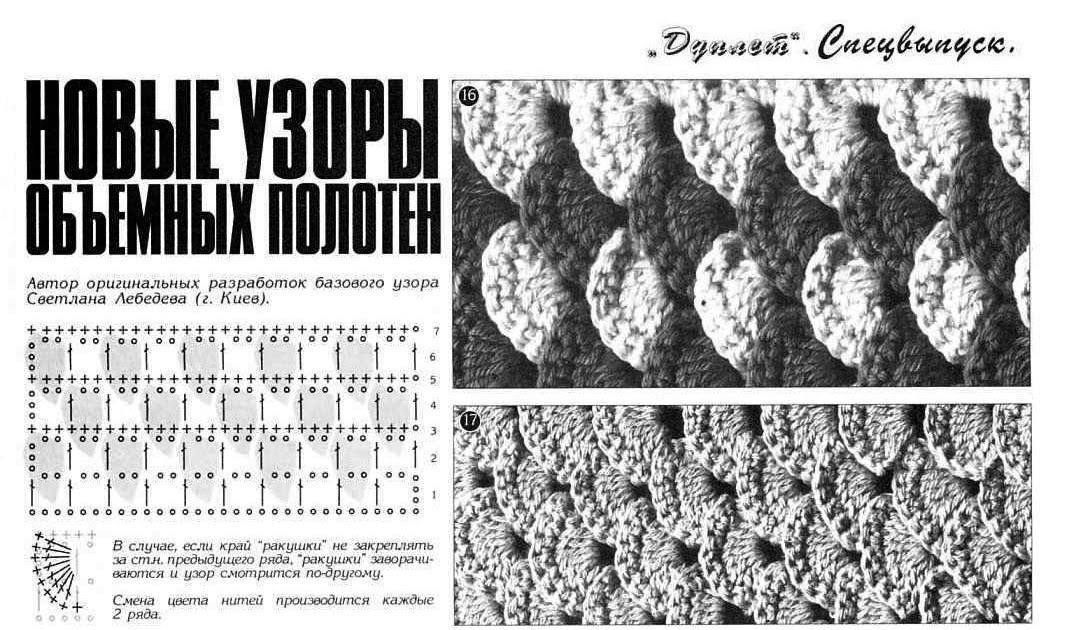 Вязание крючком для начинающих: столбики без накида