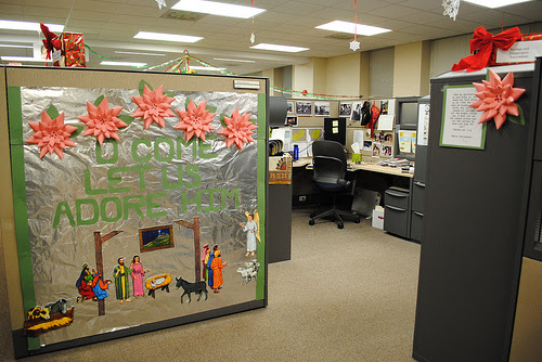 Cubicle Decorations Let Office Supplies Blog Christmas Decorating Ideas