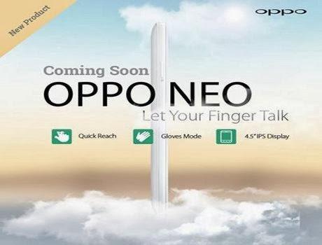 Smartphone Terbaru OPPO Neo Terbongkar