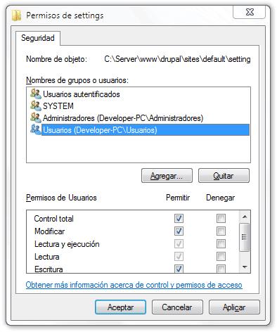 instalar-drupal-7-en-windows-7-cambiar-permisos-archivos