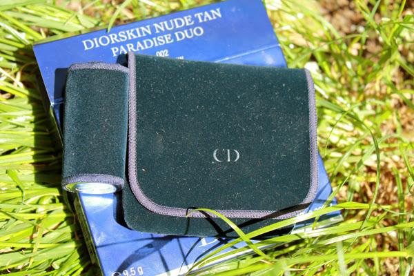 Dior Diorskin Nude Tan Paradise Duo Poudre Bronzante & Blush Irises with kabuki brush #002 Coral Glow
