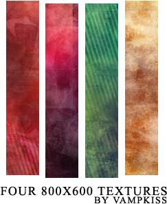 Quatro texturas de papel de parede
