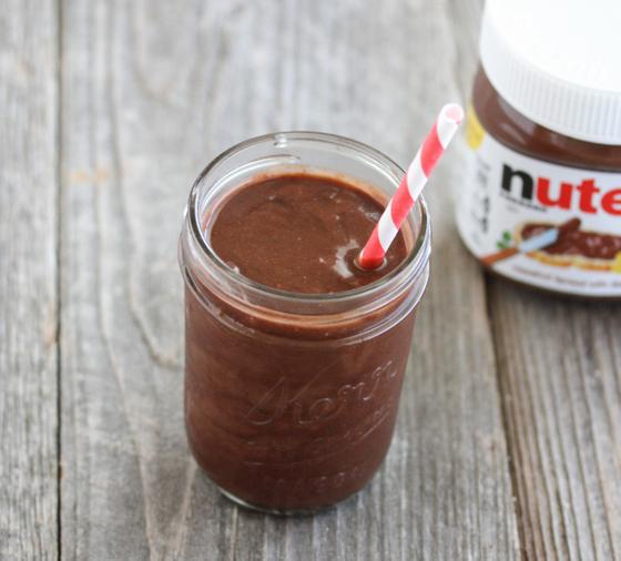 photo of a Nutella Banana Milkshake