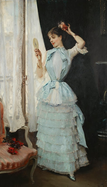 Raimundo Madrazo - Aline at her toilette